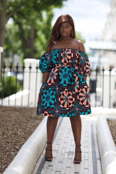 Yinks Midi off the shoulder Dress - M.A.DKollection