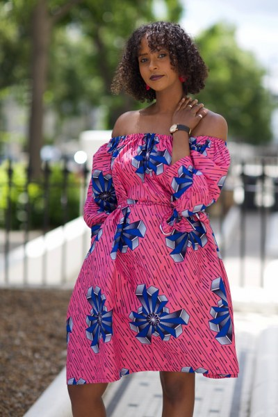 Vera Midi off the shoulder Dress - M.A.DKollection