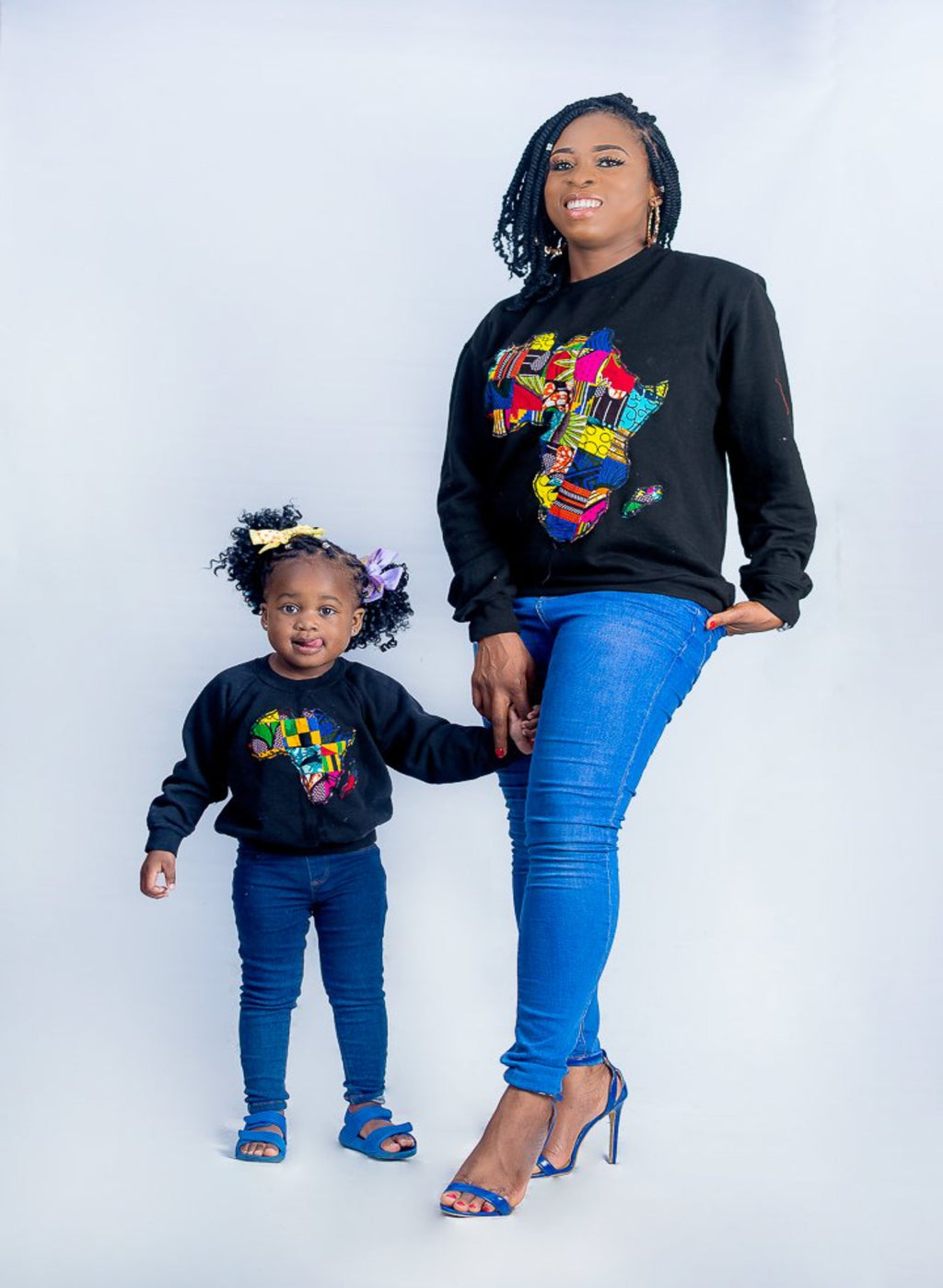 African Map Black Kids Sweatshirt