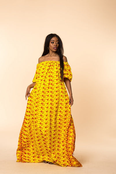 Adaku Off Shoulder Maxi Dress - M.A.DKollection