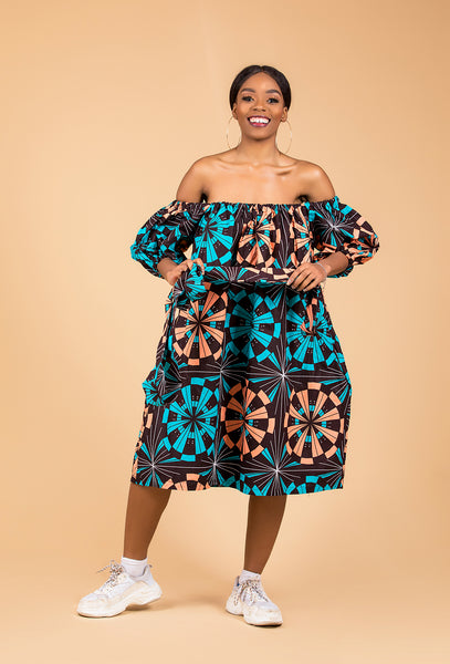Yemi Midi off the shoulder Dress - M.A.DKollection