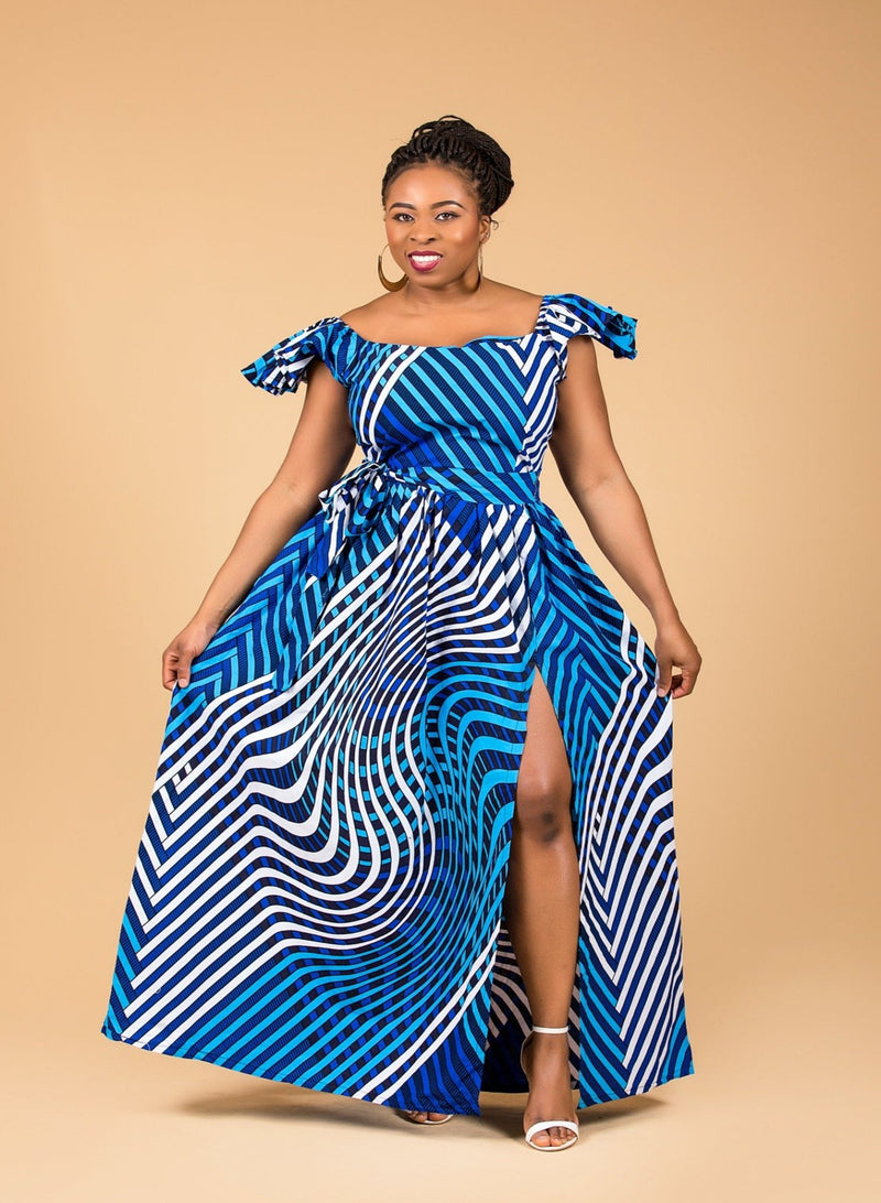 Aba Maxi Off shoulder Dress - M.A.DKollection