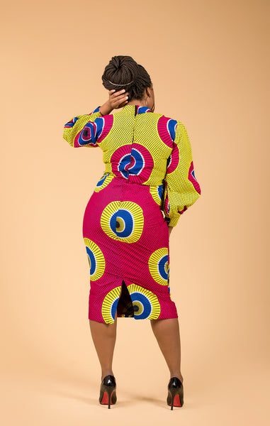 Uwem Midi Pencil Dress - M.A.DKollection
