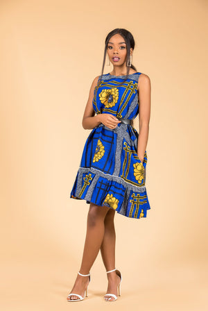 Dayo Sleeveless Midi Dress - M.A.DKollection