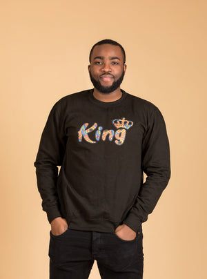 African King Sweatshirt Top - M.A.DKollection