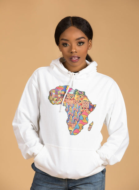 African Map Red Sweatshirt Top