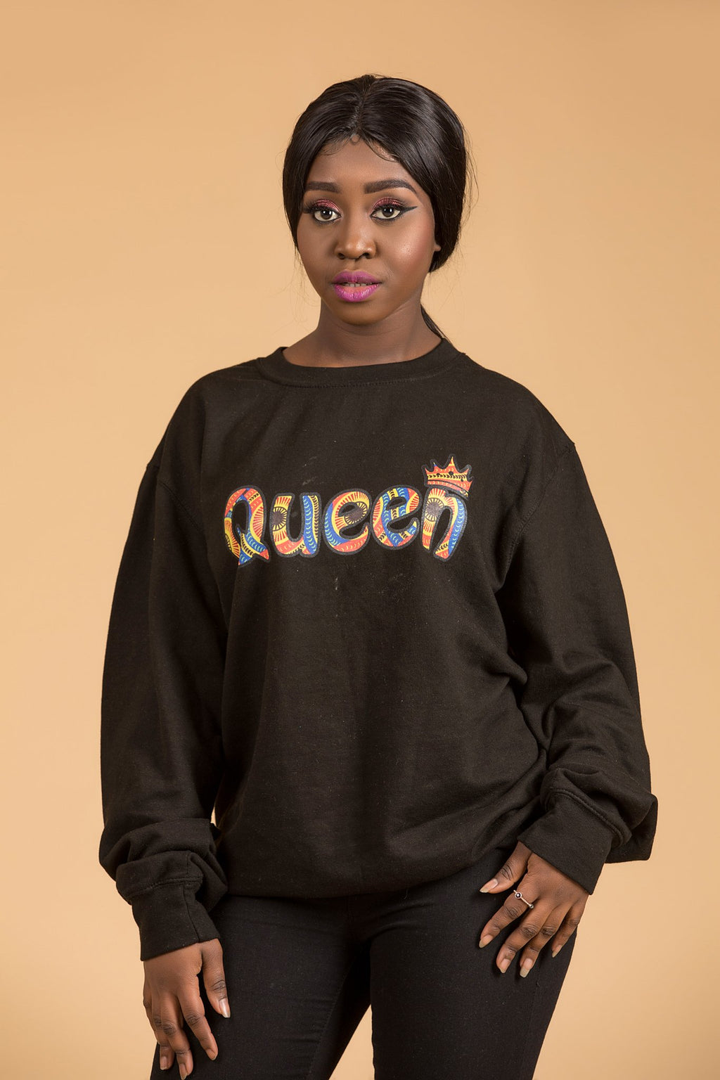 African Queen Black Sweatshirt Top - M.A.DKollection