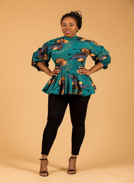 Mba Ankara Jacket Top