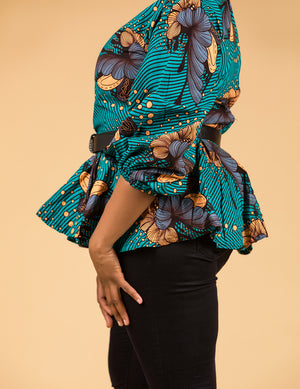 Mbah Peplum Top - M.A.DKollection