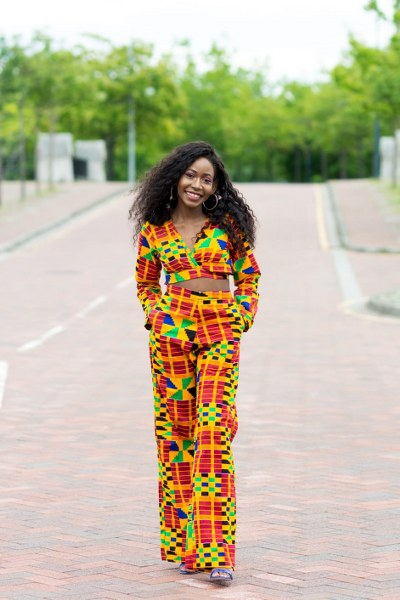 Bini  Ankara Trouser and Top Matching Set - M.A.DKollection