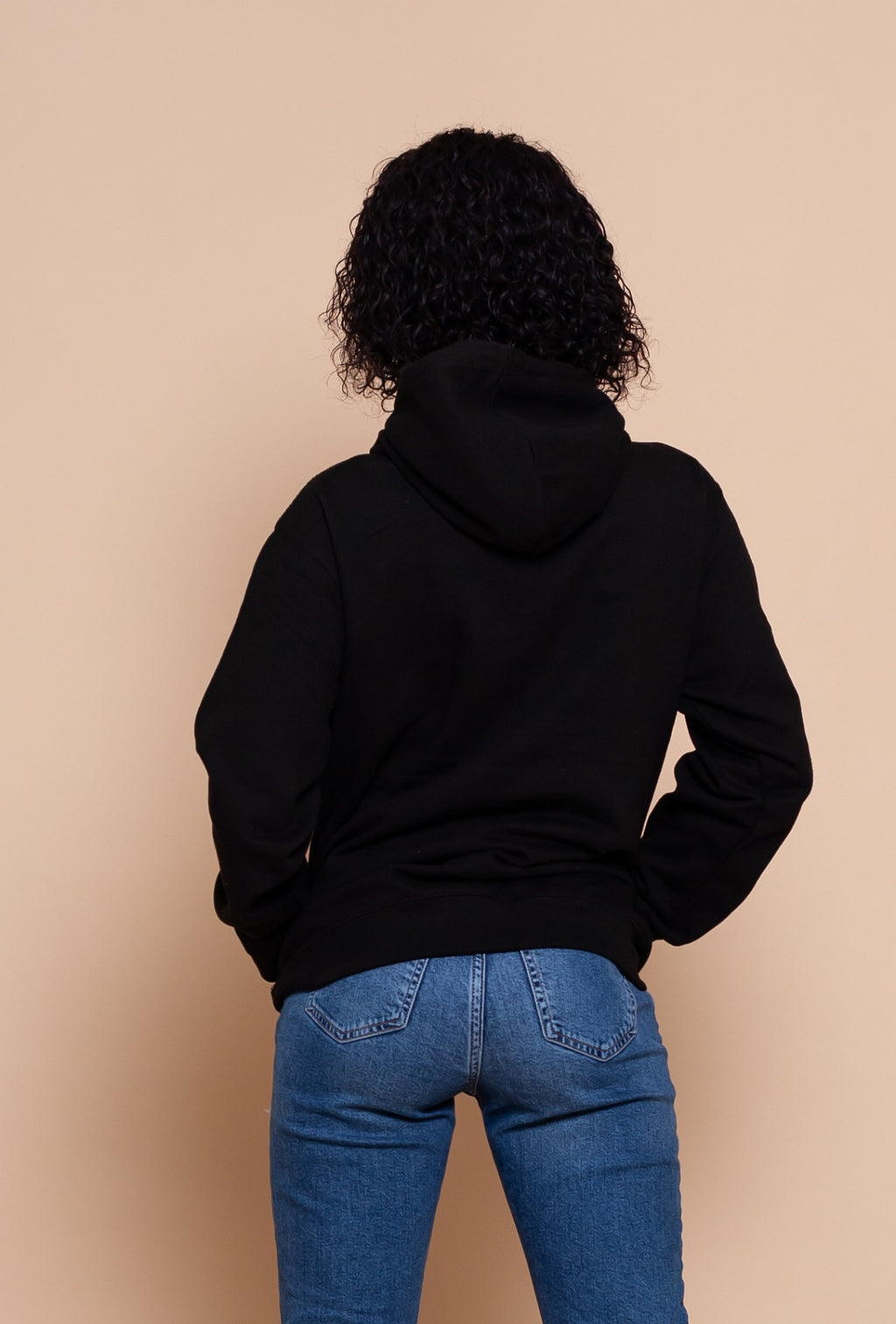 African Map Black Hoodie Top