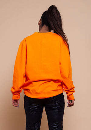 African Map orange Sweatshirt Top