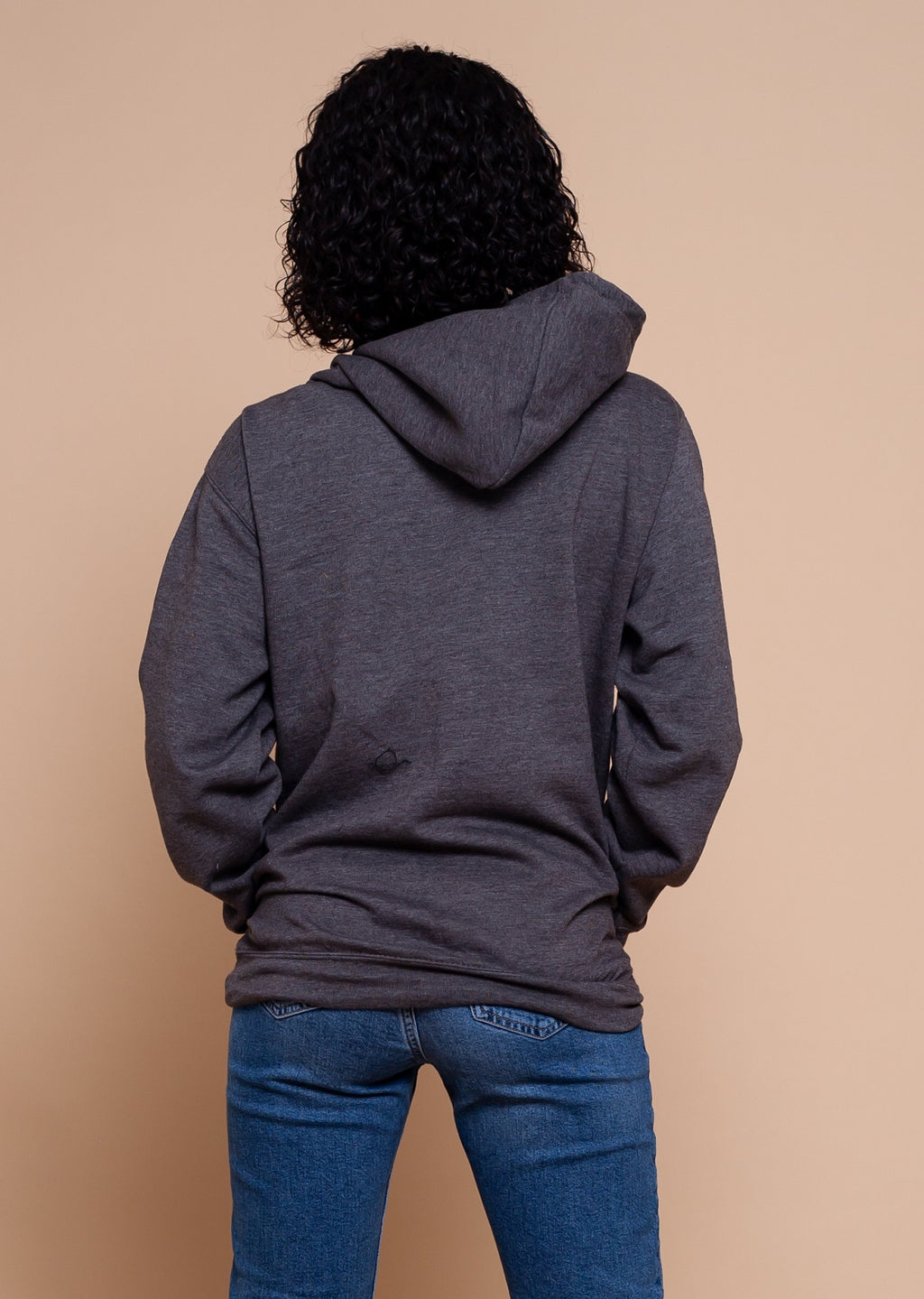 African Map Grey Hoodie Top