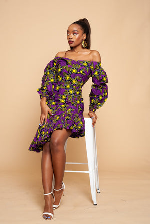Adaobi Off-Shoulder Pencil Dress