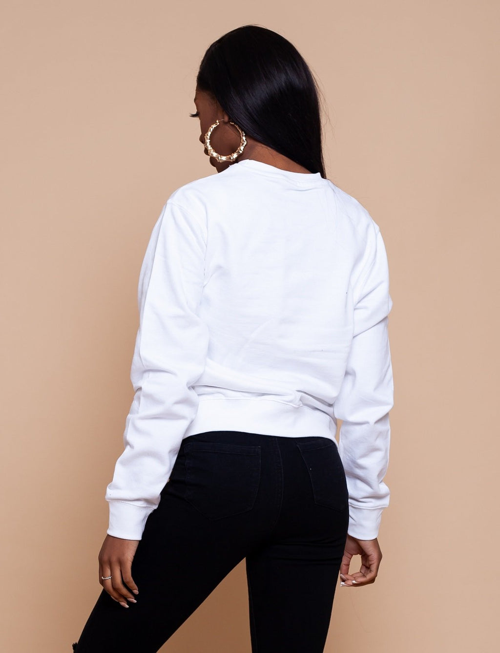 African Map White Sweatshirt Top