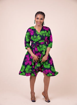 Bose Wrap Dress - M.A.DKollection