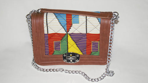 Ankara Leather detail Bag