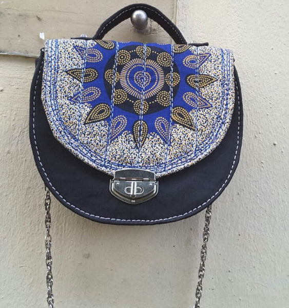 Blue Ankara Bag - M.A.DKollection