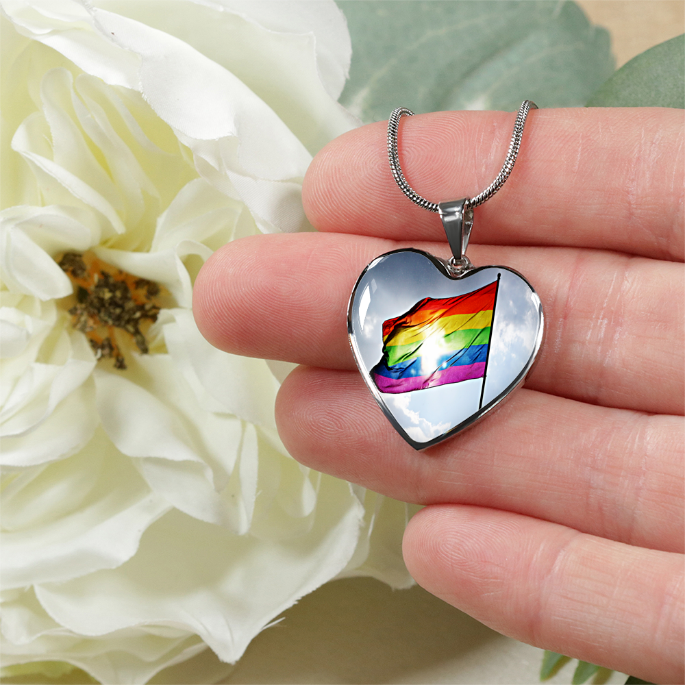 LGBTQ Pride Heart Shaped Necklace/Bangle