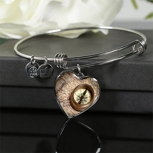 Adventure Awaits Charm on Necklace/Bangle Braclet