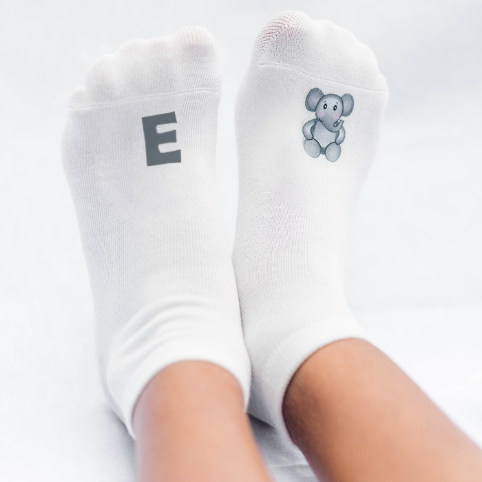 Z-A or A-Z Full Socks Alphabet (26/Pairs)