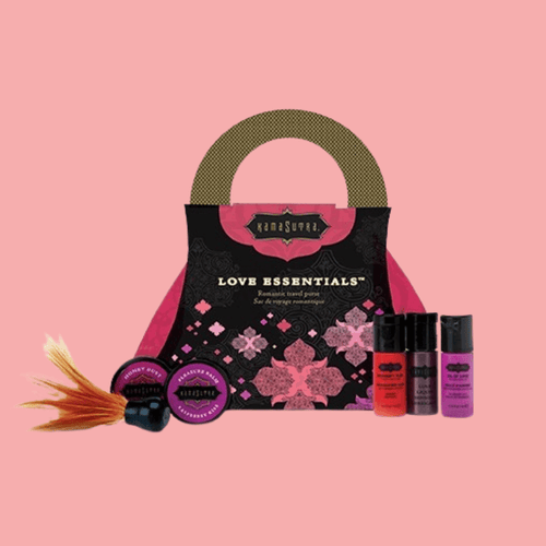 Love Essentials Travel Purse KAMASUTRA Kit Erótico Viaje tulipanes.club sexshop