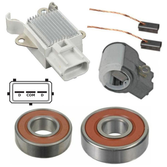 Alternator Repair Kit for 2005 2006 Volvo S40 V50 C70; Regulator Brushes Bearings - 11054RK