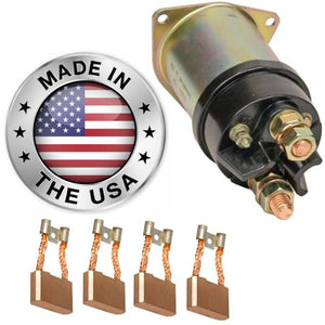 Solenoid and Brushes 42MT Delco Made in the USA. Bluebird Bus 1483312 Delco 10461021 61414 79117 1990394 0404 0405 3795 3938 3943 3961