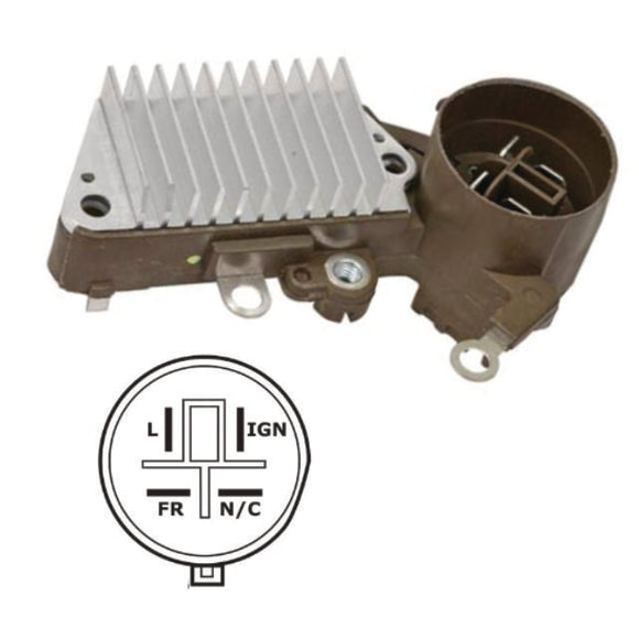 Alternator Voltage RegulatorRound, 4 Terminal, for 1990-1991 Acura Integra - IN225REG13326
