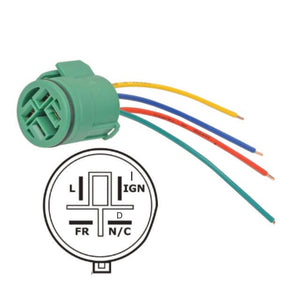 Alternator Plug Pigtail Connector for Harness Lead Repair, 4 Wires, Round for Code 292