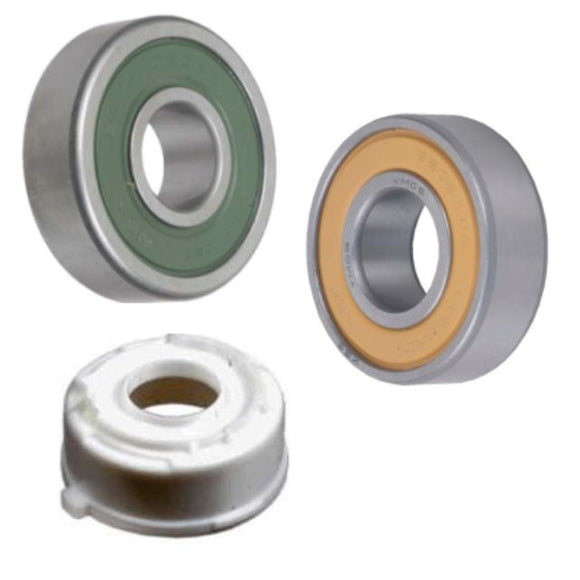 NSK Bearing Kit for Valeo Alternators 593684 6202DWS 15X35X11mm, 593563 6303-2RS 17X47X14mm