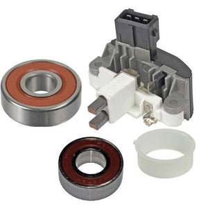 Alternator Kit; Regulator, Bearings, Brushes for 1998-2000 BMW 528i 120 Amp Bosch Style 0123515022