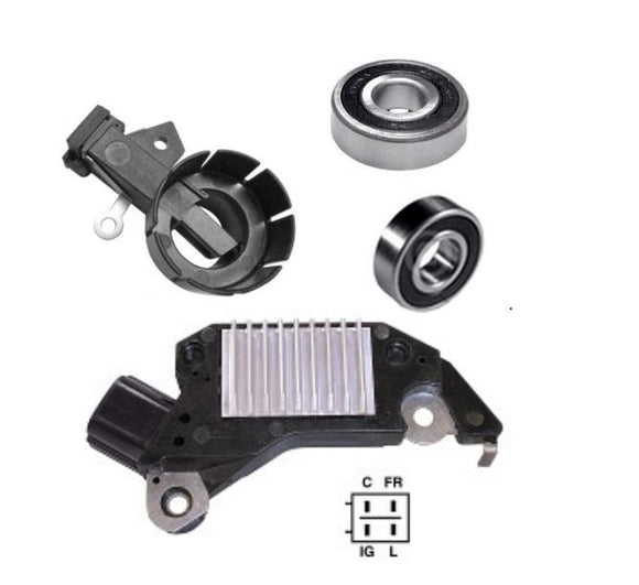 Alternator Repair Kit 1997-2002 Honda Accord V6 3.0L Voltage Regulator, Brushes Bearings