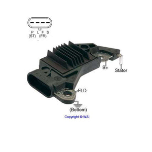 Voltage Regulator, for Delco, P-L-F-S Terminals (19009705, 19009729, 19009763)