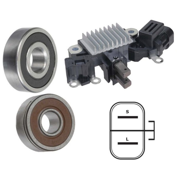 Alternator Repair Rebuild Kit for 98-04 Frontier Xterra 2.4 Regulator Brushes Bearings