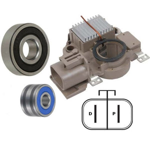 Alternator Kit 1997-2001 Mazda Protege, Regulator Bearings Brushes
