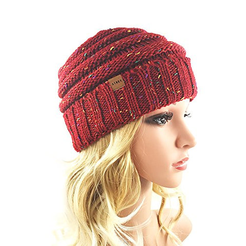 Women's Warm Chunky Thick Stretchy Knit Beanie Skull Cap Winter Knitting Warm Hat