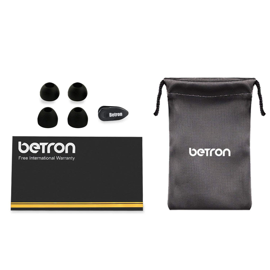 Betron DC950 Headphones Earphones, Noise Isolating, Bass Driven, High Definition In Ear Canal, Tangle-Free, Replaceable Earbuds for or Iphone, Ipod, Ipad, MP3 Players, Samsung, LG with Microphone - Arvonic