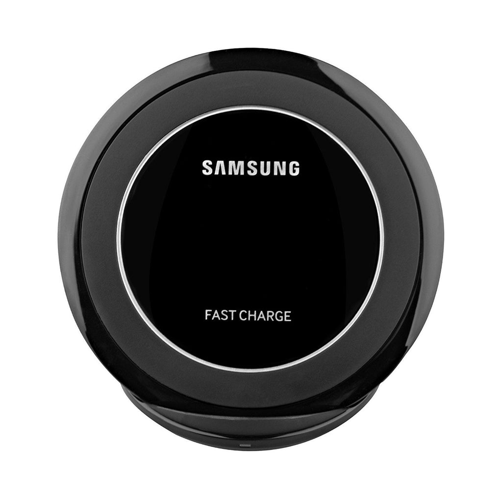 Samsung Fast Charge Wireless Charging Stand for QI Enabled Devices - Black (Certified Refurbished) (With / AFC Wall Charger) - Arvonic