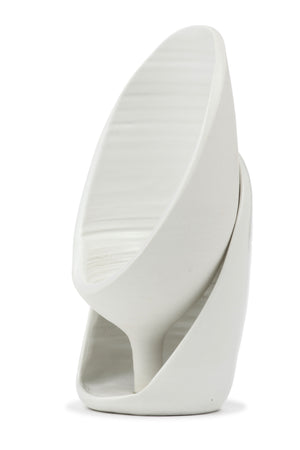 Inverted Sliced White Porcelain Bottle