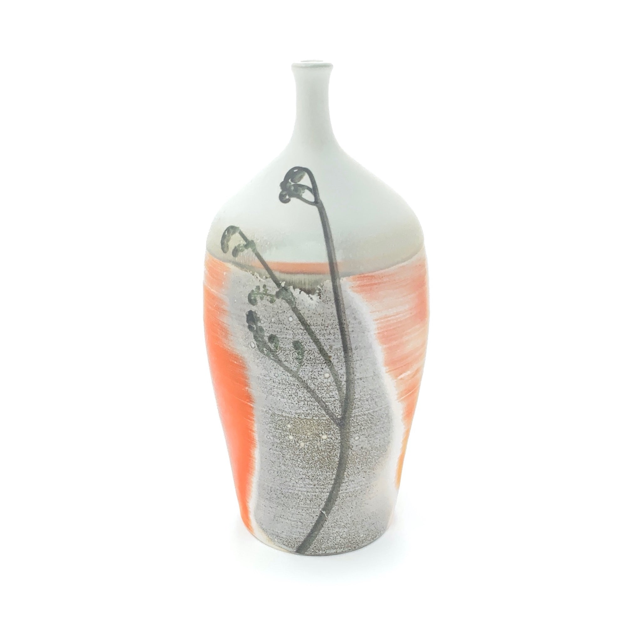 Orange Fiddlehead Bottle