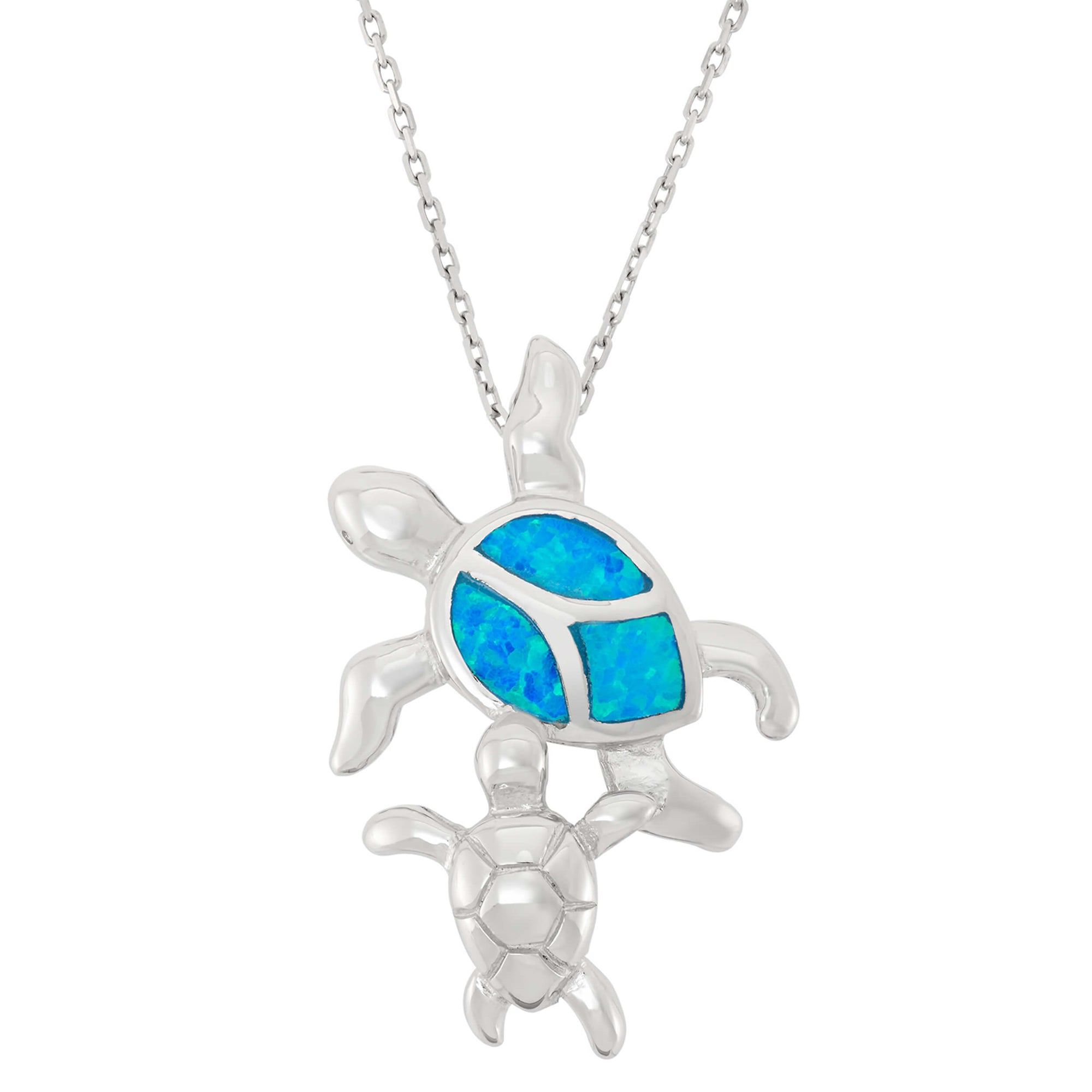 preciosa la sterling opal on over watches product shipping jewelry free turtle blue orders overstock necklace silver