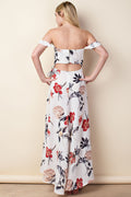 Tara Off Shoulder Maxi Floral Dress