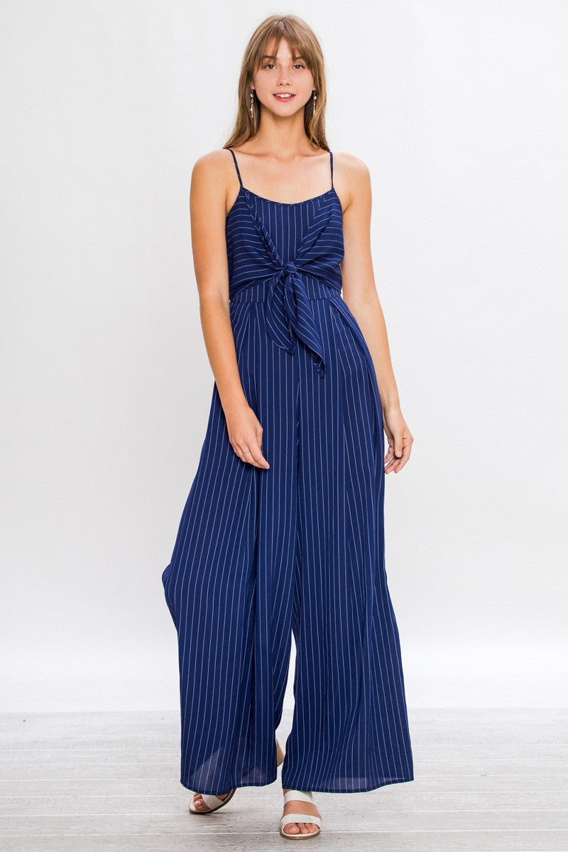 Kayla Pinstriped Jumpsuit