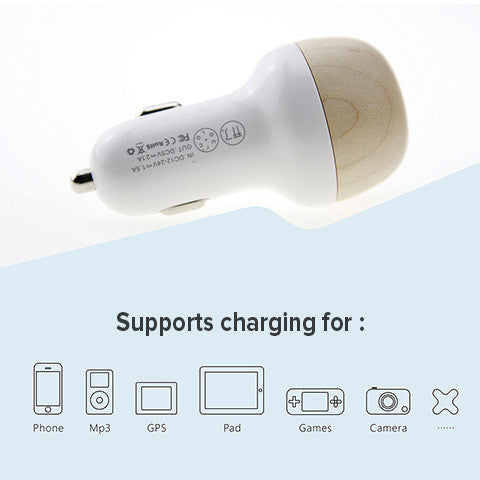 mushroom car charger, solid automobile interior phone accessory