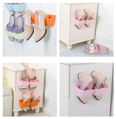 suction, shoe rack,wall mounted, plastic, home utility