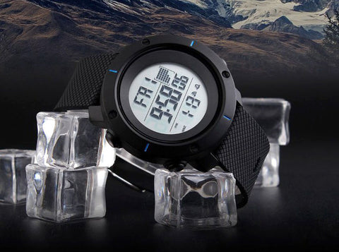 waterproof sports watch, digital watch, imported sports watch