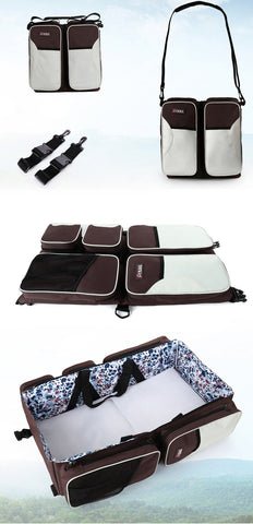 traveling essential, baby traveling bag and bed, imported travel accessories