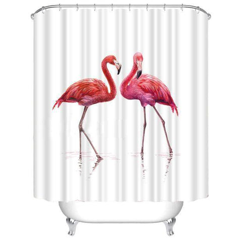 3D Digital Print Red Crown Polyester Shower Curtain