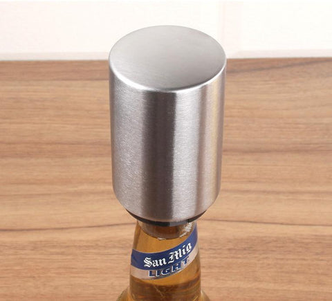 pop up, push down, automatic, bar, kitchen, stainless steel, bottle opener, gift